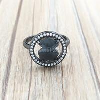 Bair jóias 925 anéis de prata esterlina camille anel em prata com labradorite e diamantes se encaixa o presente de estilo de jóias europeu C712165660
