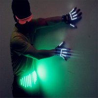 T20 LED-Licht Gläser LED Handschuhe mit Gürtel Gesellschaftstanz LED-Licht Kostüme DJ-Tanzhandschuhe Party-Events Bar Disco trägt Performance Disco