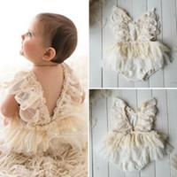 Princess Girl TUTU Romper платье новорожденного девочка цветок кружева ползуна тела боди бдительный одежда 0-24м