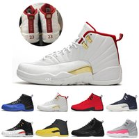 Neue 12s FIBA ​​Reverse Taxi Bumblebee Herren Basketball Schuhe Michigan Spiel Royal Bordeaux Dark Grey WNTR Michigan Herren Sport Turnschuhe Designer