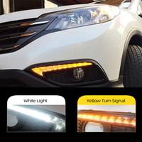 För HONDA CRV CR-V 2012 2013 2014 DRL Körning Dagtid Running Light Drl med sväng Signal dimma lampa Relä dagsljus bil stil