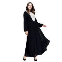 Abbigliamento etnico 2021 Abaya Dubai Dress Musulmano Delle Donne Fashion Long Maxi Doppio strato Abito allentato