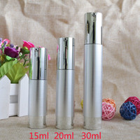 15ml 20ml 30ml Empty Airless Pump Bottles Silver Transparent...