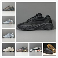 Kanye West 700 v2 corridore dell'onda Vanta 3M Carbon Blu Nero Running Shoes Womens Mens 700S Inertia Sneakers Trainers