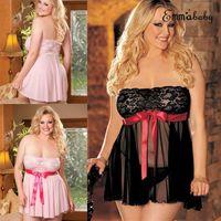 2XL-4XL delle donne sexy floreale del merletto della biancheria Print Plus Size Lingerie Sexy Hot erotica vestito dalla bamboletta sexy biancheria intima XXXXL XXXL XXL