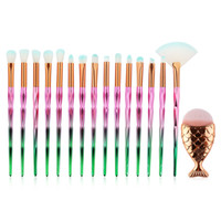 21pcs Diamond Makeup Brushes Set Powder Foundation Eye Shado...