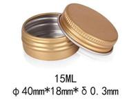 전자 담배 15g 작은 금 블랙 알루미늄 항아리 15ML 빈 립 밤 화장품 아이 크림 병 여행 로션 주석 컨테이너