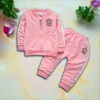 VSC Kids Sets 1- 4T Kids Cardigan Zipper Coats Pants 2Pcs set...