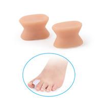 Hálux valgo gel de silicone toe separador separador toe espaçador dedos sobrepostos corrector aliviar sore joanetes dolorosos bunion splint bunion protetor