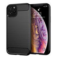 iphone11 프로 맥스 DHL의 아이폰 (11)의 경우 탄소 섬유 텍스처 슬림 갑옷 닦았 TPU 전화 케이스 커버