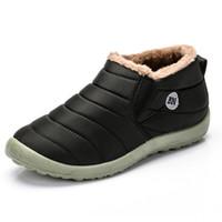 Zapatos de los hombres de invierno de hombres zapatillas de deporte de invierno caliente impermeable de nieve botas de piel de Zapatillas Hombre Zapatos Casual calzado de los hombres