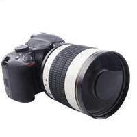 Lente de espejo telefoto F6.3 + anillo adaptador T2 de 500 mm para Canon 1100D 1200D 1300D 100D 200D 300D 350D 400D 450D Cámara Nikon