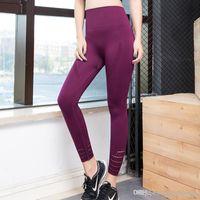 2018 nova Nepoagym Mulheres Energia controle contínuo da barriga Yoga Pants Super elástico Gym calças justas de cintura alta Esporte Leggings executando Calças