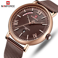 NAVIFORCE Часы Мужчины Мода Бизнес Часы Мужские Повседневный Водонепроницаемый кварцевые наручные часы из нержавеющей стали Mesh Relogio Мужчина для
