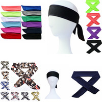 Sport Headbands Yoga Hair Band Camouflage Tie Back Stretch S...
