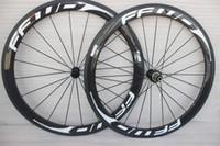 700C Course roues de carbone de bicyclette 50mm FFWD Route Carbone Vélo Paire de roues clincher 23mm et 25mm cadre largeur carbone