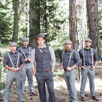Elegante cinza rústico casamento smoking lã espinha de peixe Tweed Custom Made Slim Fit terno dos homens (colete + calça) Farm Prom noivo mais tamanho Plus Size
