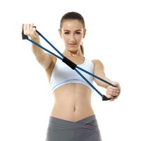 8 Shaped caoutchouc Résistance Bands Accueil Yoga Fitness exerciseur Sport élastique Gym Crossfit poitrine Développeur Musculation boucle