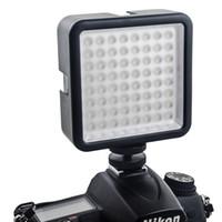64 LED Kamera LED Panel Işık, Taşınabilir Dim Kamera Kamera DSLR Kamera için LED Panel Video Aydınlatma