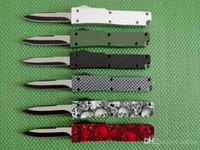 미니 키 버클 나이프 알루미늄 T6 녹색 검은 색 상자 섬유 플레이트 더블 액션 접는 칼 선물 칼 크리스마스 칼 무료 빼내는