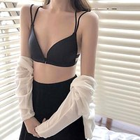 Women Gather Bra Front Closure Push Up Ladies Sexy Padded Bralette Lingerie Wire Free Back Beautify Fashion