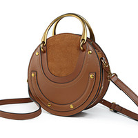 New Arrival. Small Pixie Bag Round Shape Circular Handbag Designer Inspired  Genuine Calfskin Bag Top Handles shoulder Purse For Women bf0dfe7615620