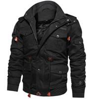 Outwear 2019 homens chegada de inverno velo jaquetas casaco com capuz quente térmico grosso outerwear masculino jaqueta mens marca clothing