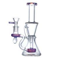 Klein Recycler Rig Bubbler Water Pipes 샤워 헤드 Perc Hookahs Heady Glass 독특한 봉 14.5mm 그릇 XL-2062