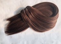 Remise Russe Remy Human Hair The The Cuticle Cuticle Remy Hair Weave Wave droite 100gram / pièce Couleur blonde