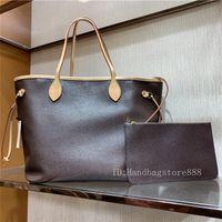GM حجم 2 قطعة / المجموعة مع محفظة أزياء المرأة مصمم الكلاسيكية جلد طبيعي حقائب الكتف الفاخرة حمل حقائب السيدات حقيبة تسوق محفظة