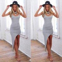 2015 женская сексуальная повязка без рукавов Bodycon Party Long Maxi Dress Бесплатная доставка Drop Shipping