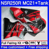 Injectie voor Honda NSR 250R 250 R NSR250R Cowling Hot Rood 1990 1991 1992 1993 264HM.30 NSR250 R RR MC21 PGM3 NSR250RR 90 91 92 93 Valerijen
