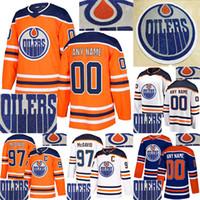 Edmonton Oillers Горячие бурения 97 Коннор Макдавид Джерси 99 Грецки 29 Draisaitl 93 NUGENT-HOPKINS настроить любой номер любого имени хоккейные изделия