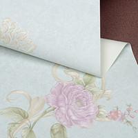 Corea flor romántica rollo de papel 3D estéreo de PVC resistente al agua dormitorios papel tapiz de vida cálida sala de estilo pastoral casa de pared decorativos