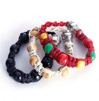 Tissés à la main corde perles tube Fashion Bracelet Cigarette Pipe métal Bracelet Perle pipe pour le tabac k0826