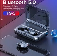 F9 True Wireless Earbuds 5D Auricolari Bluetooth stereo Mini TWS Headfrees impermeabili con 1300mAh Power Bank Earphones Pk X8 T2c