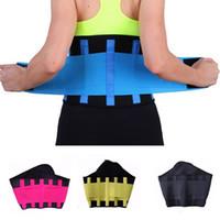 La correa caliente de la energía termo adelgaza la talladora hombres de las mujeres unisex de la talladora del cuerpo de la cintura Fitness Deportivo Entrenador ajustable de la cintura Shapers S-3XL 7 colores mejores