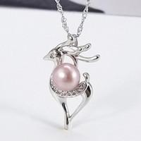 jewerly S925 argento ciondolo collana di perle collana di alce per le donne semplice moda bella calda