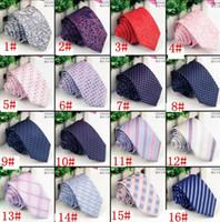 Los hombres de negocios formal corbata corbata de boda Lazos de la moda de moda corbata corbata Reduzca Flecha flaco Lazo de la raya de 16 diseños KKA1983