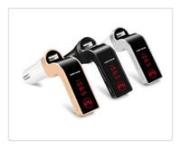 سيارة G7 بلوتوث MP3 FM مرسل بلوتوث اللاسلكية سيارة كيت الأيدي FM مجانا محول الارسال مع USB شاحن سيارة مع حزمة