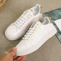 Moda Erkek Kadın Marka Tasarımcı Ayakkabı Hakiki Deri Portofino Sneakers Kauçuk Taban Rahat Marka Ayakkabı Tasarımcısı Boyutu 35-46