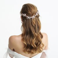 Cabelo de casamento de boa qualidade Rose Gold zinco nupcial Alloy Headpiece Tiara Acessórios Handmade Headband jóias para a noiva Grinalda noite Coroas