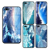 Iphonex xs 8 6 7 new beautiful blue sky landscape tempered g...