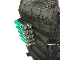 Tactique Molle Magazine Pouch CAL.12 Shotgun Shell Munitions support 10 ronde avec clip 12 Gauge Shell Holder