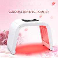 Máscara de cuello facial LED de 7 colores EMS Microelectronics Máscara de fotón LED Eliminación de arrugas Rejuvenecimiento de la piel para belleza de cara y cuello