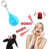 Portable allarme personale di sicurezza di allarme Portachiavi personali forte sirena canzone Safe Sound con LED donne anziani