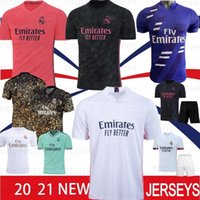 7 REAL MADRID RISQUE 20 21 Soccer Jersey SERGIO RAMOS VINICIUS BENZEMA Hommes enfants Kit 2020 2021 Camiseta Football Uniformes shirt