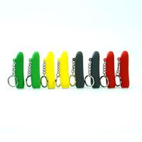 Nuevo diseño 25 g de silicona mini pepino Pipes para fumar pipa de mano pipas de agua para fumar hierba seca