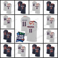 Virginia Cavaliers Basketball Jersey 2019 Final Four 30 Männer Huff Halle 45 Katstra Guy 11 Jerome 23 Johnson Virginia Cavaliers Jersey