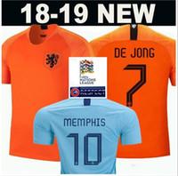 2019 20 Holland Home soccer jersey 18 19 Netherlands  9 V.PERSIE  7 MEMPHIS  Soccer Shirts Away blue  10 SNEIJDER  11 ROBBEN Football uniform ba90f896b